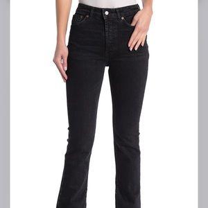 free people emmy high waist jeans split hem